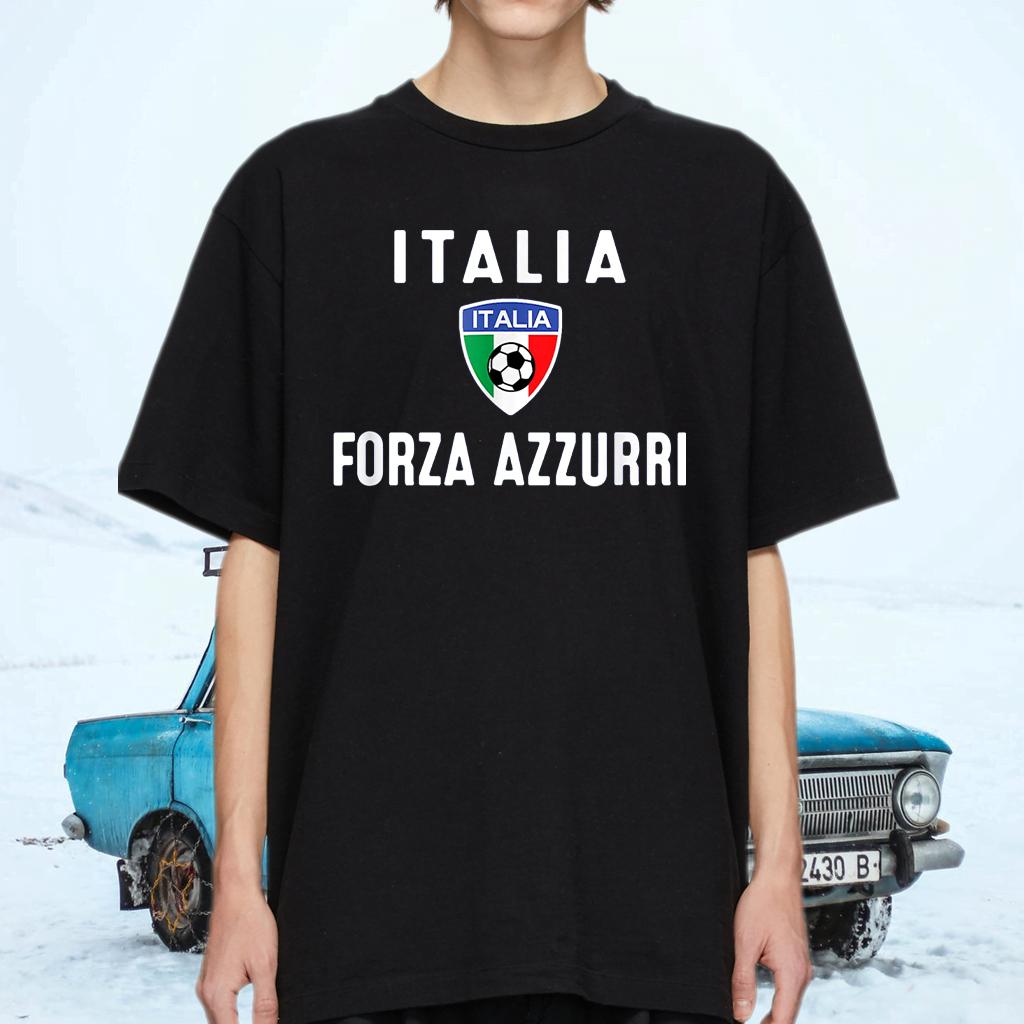 Italy Soccer Jersey 2020 Forza Azzurri Italia Football Team T-Shirts