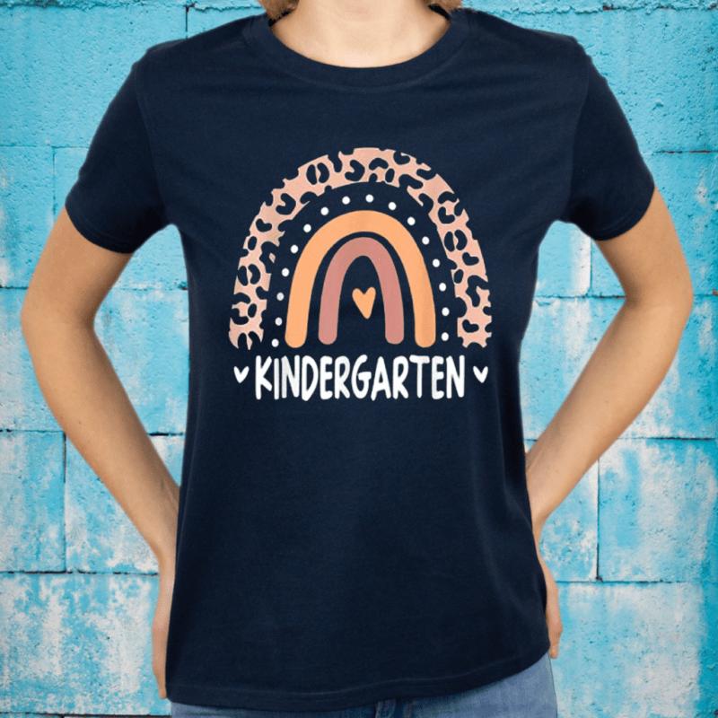 Leopard Rainbow Kindergarten Teacher First Day of School T-Shirts