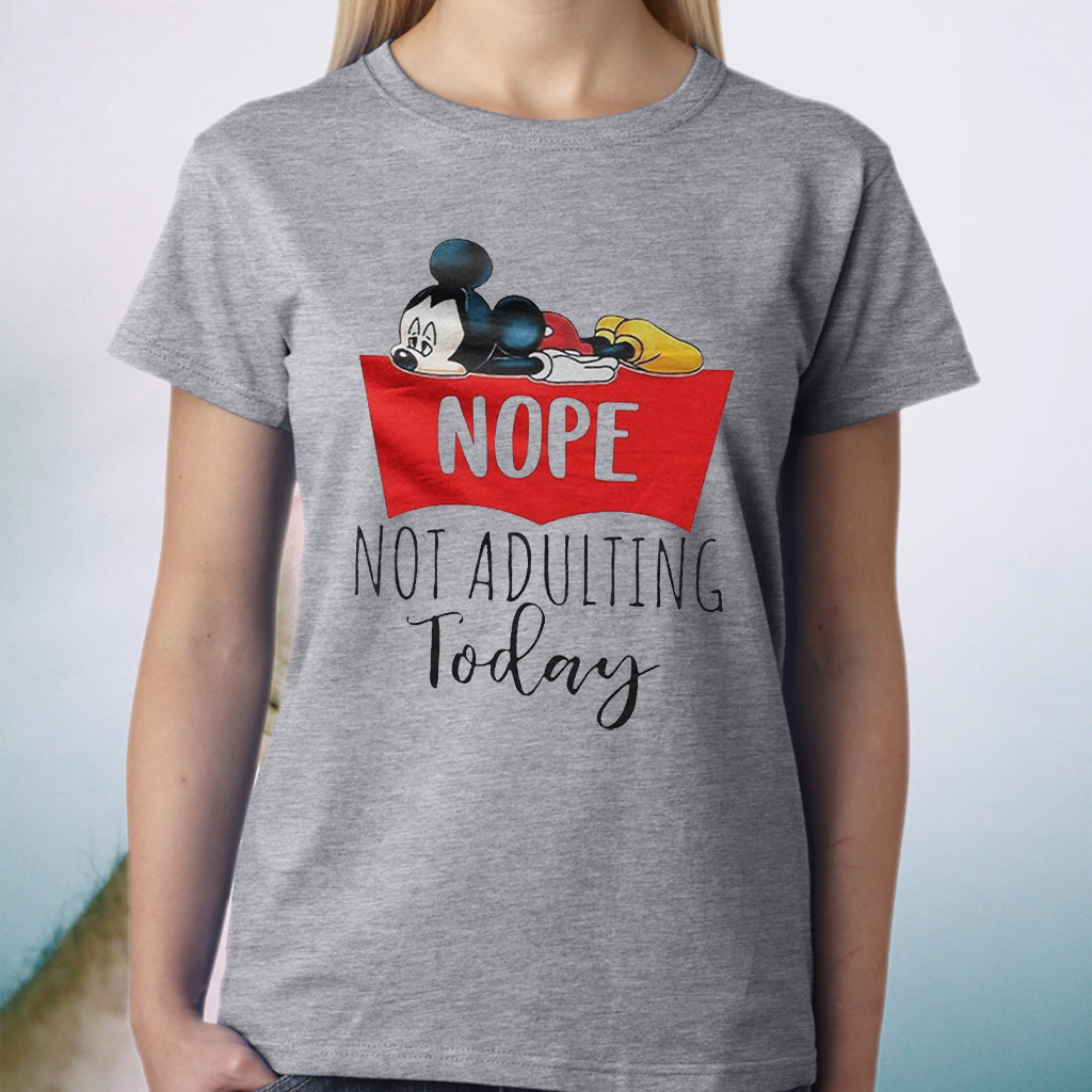 Mikey Nope Not Adulting Today T-Shirt