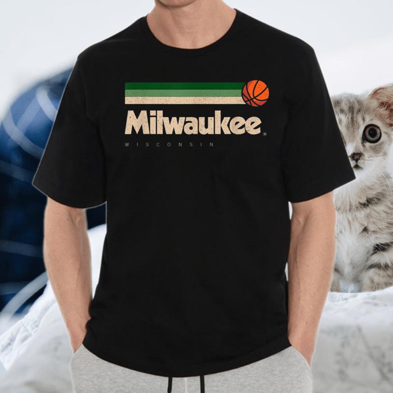 Milwaukee Basketball B-Ball City Wisconsin Retro Milwaukee T-Shirt