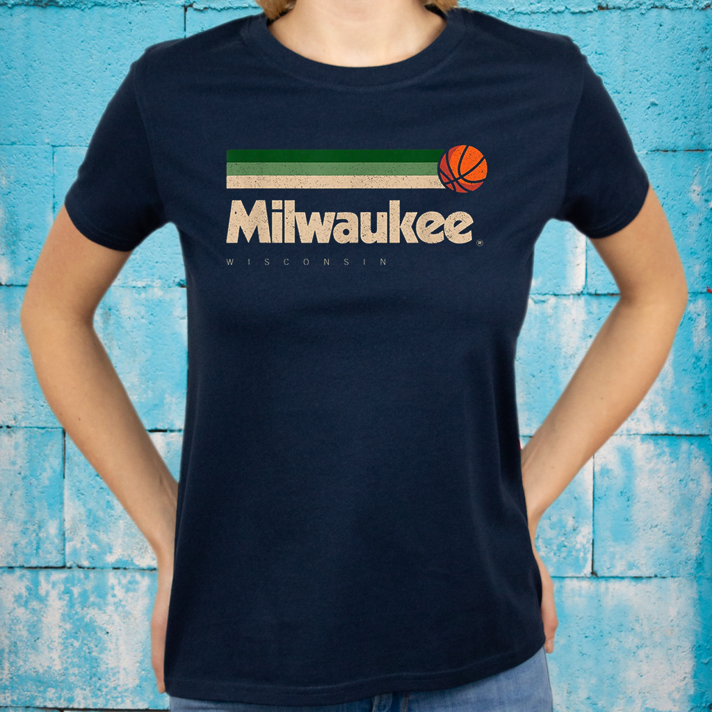 Milwaukee Basketball B-Ball City Wisconsin Retro Milwaukee T-Shirts