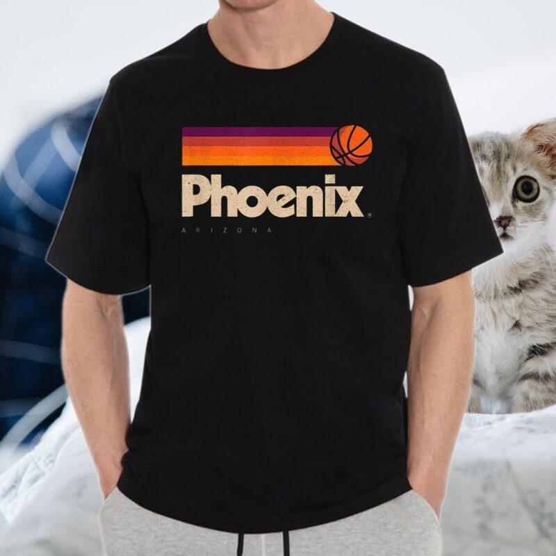 Phoenix Basketball B-Ball City Arizona Retro Phoenix T-Shirt