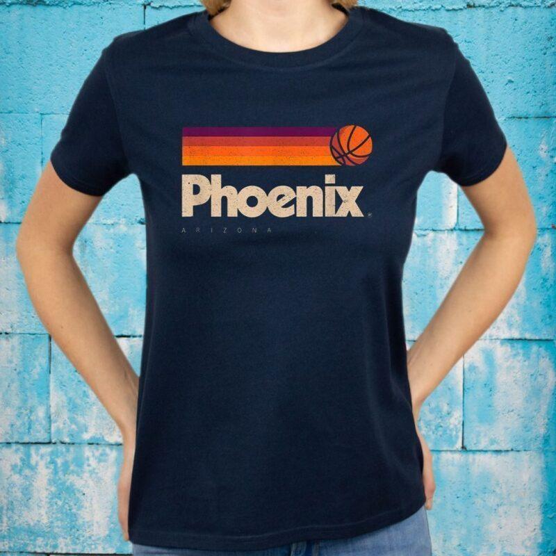 Phoenix Basketball B-Ball City Arizona Retro Phoenix T-Shirts