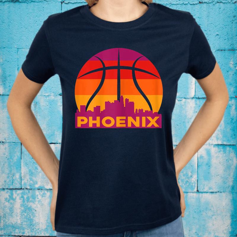 Phoenix Basketball B-Ball City Arizona State Retro Vintage T-Shirts