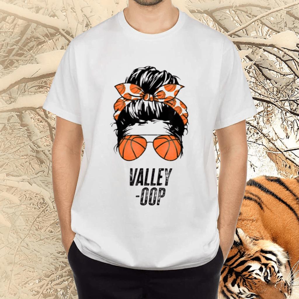 Phoenix Basketball Valley -Oop messy bun sun basketball fan Tee-Shirt