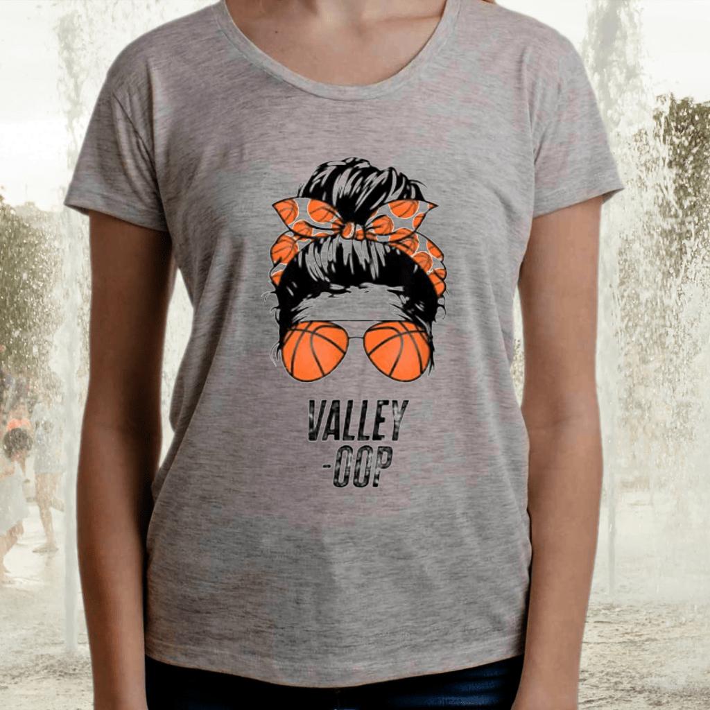 Phoenix Basketball Valley -Oop messy bun sun basketball fan Tee-Shirts