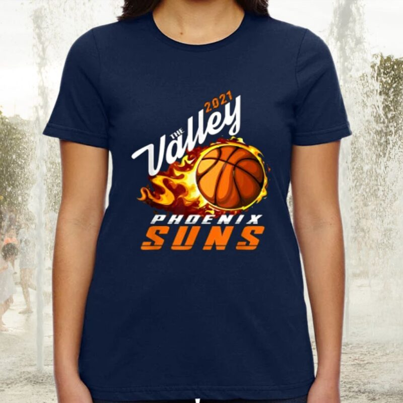 Rally In The Valley Phoenix Flaming Basketball gift2021 Tee-Shirt