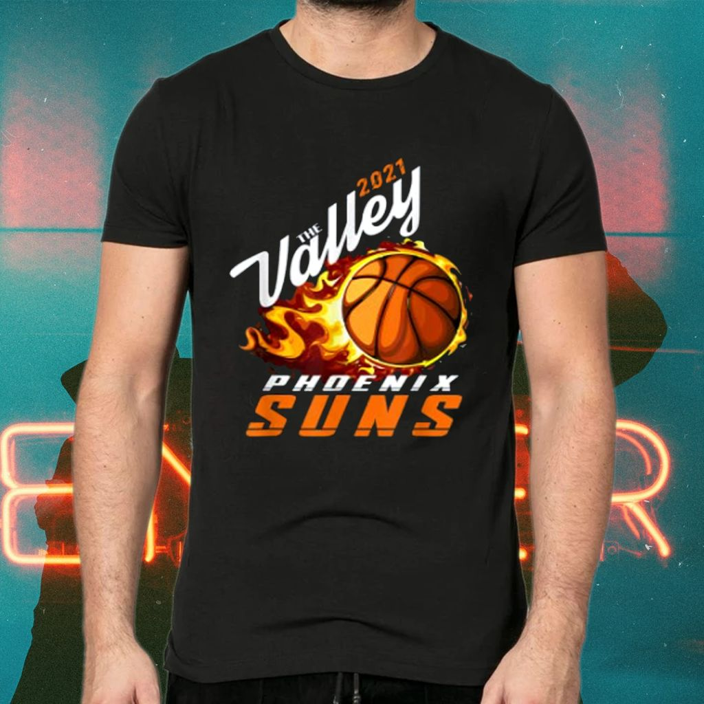 Rally In The Valley Phoenix Flaming Basketball gift2021 Tee-Shirts