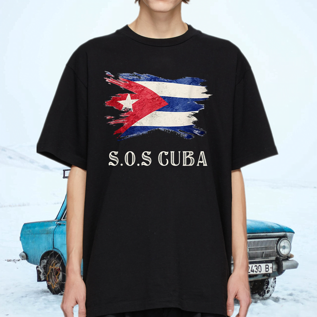 Sos Cuba Flag Cuba Cuban Flag T-Shirts
