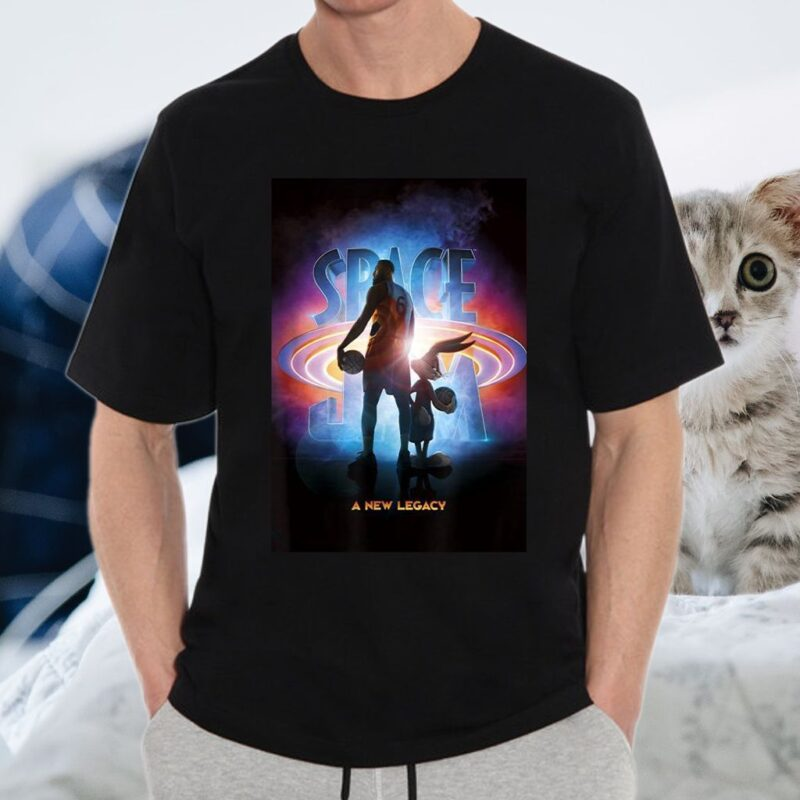 Space Jam A New Legacy Lebron & Bugs Poster Silhouette T-Shirt