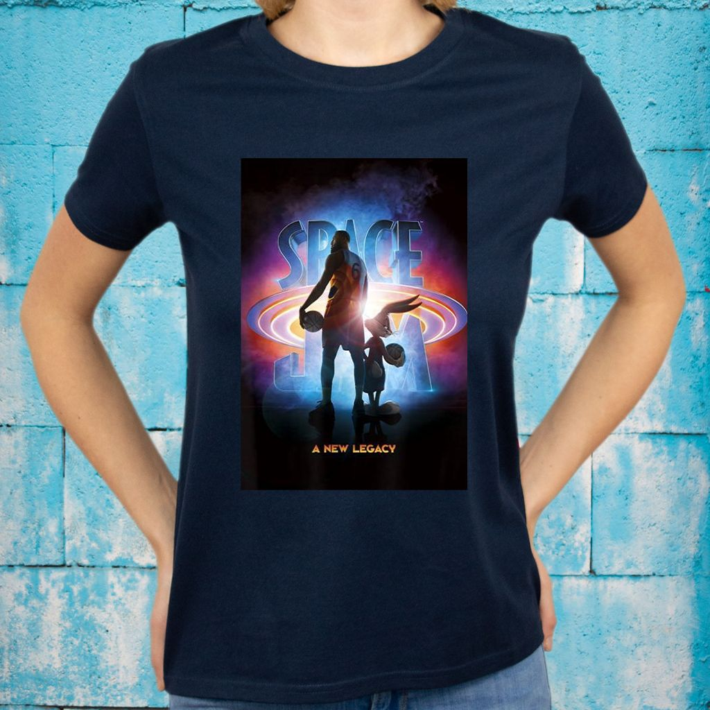 Space Jam A New Legacy Lebron & Bugs Poster Silhouette T-Shirts