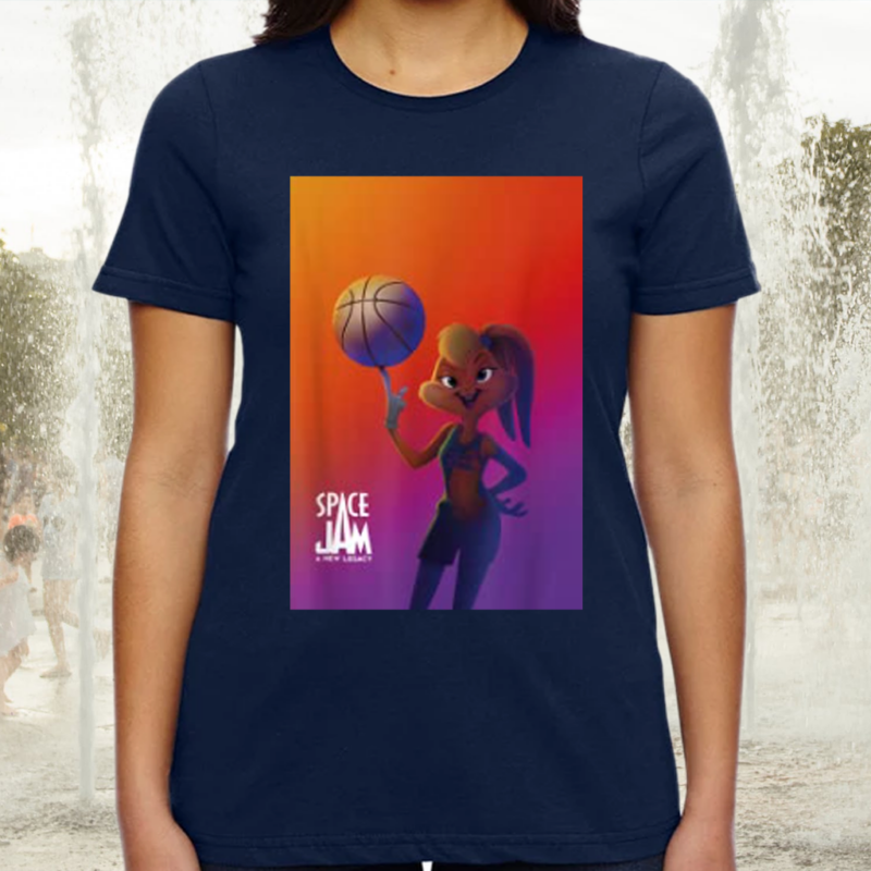 Space Jam A New Legacy Lola With Basketball Poster T-Shirts