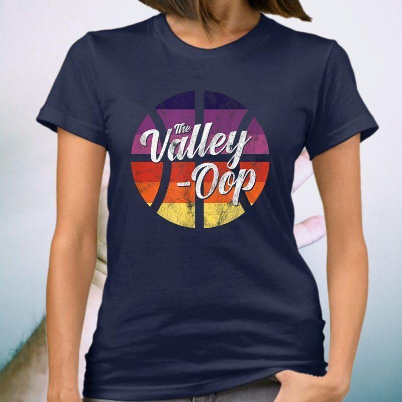 The Valley Oop Phoenix Basketball Retro Sunset Basketball T-Shirt