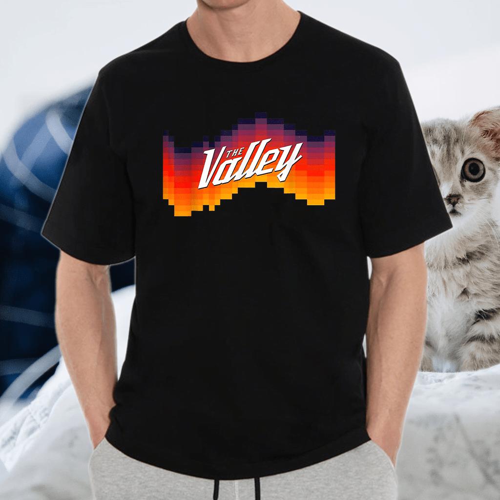The Valley Retro Sunset Basketball Tee T-Shirt
