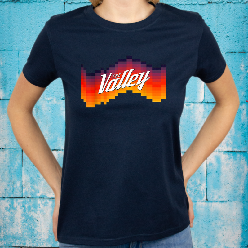 The Valley Retro Sunset Basketball Tee T-Shirts