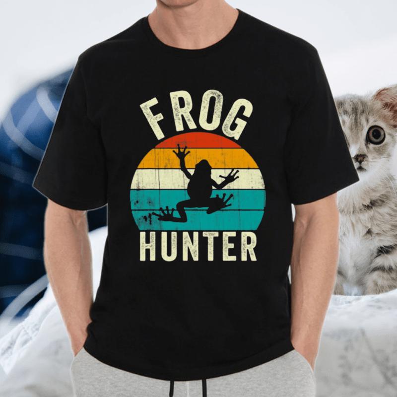 Frog Hunter Vintage Frogs Catcher Shirt
