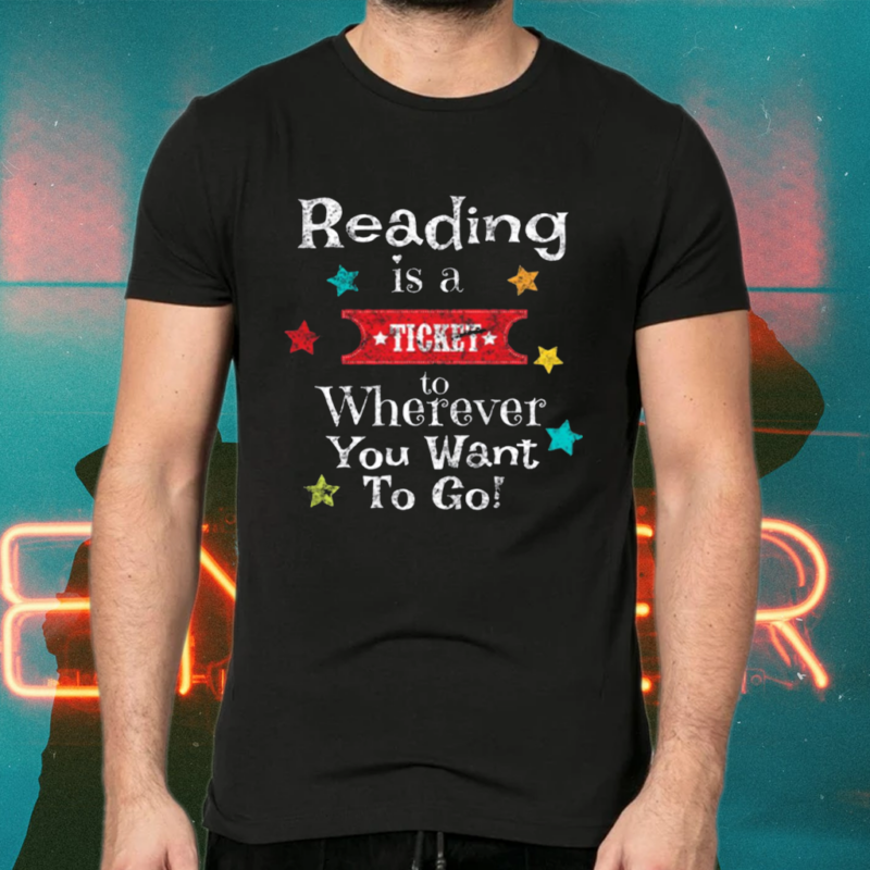 Reading Teachers Students Vintage Book Reading Shirts