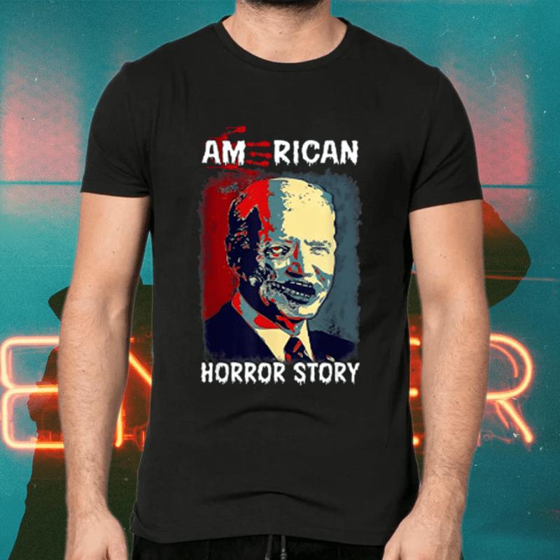 Biden Horror American Zombie Story Halloween Retro Vintage T Shirts