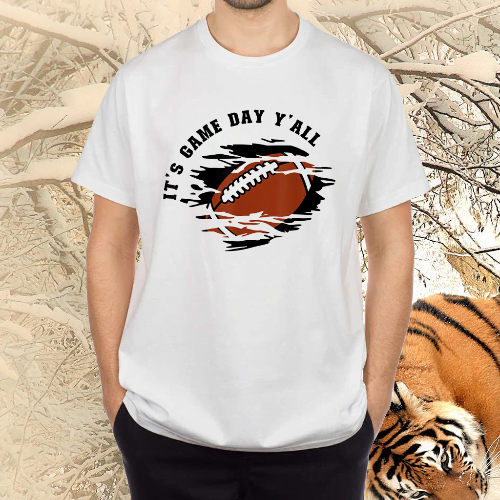 It's Game Day Y'all Cool For Football America Football Fans Shirts