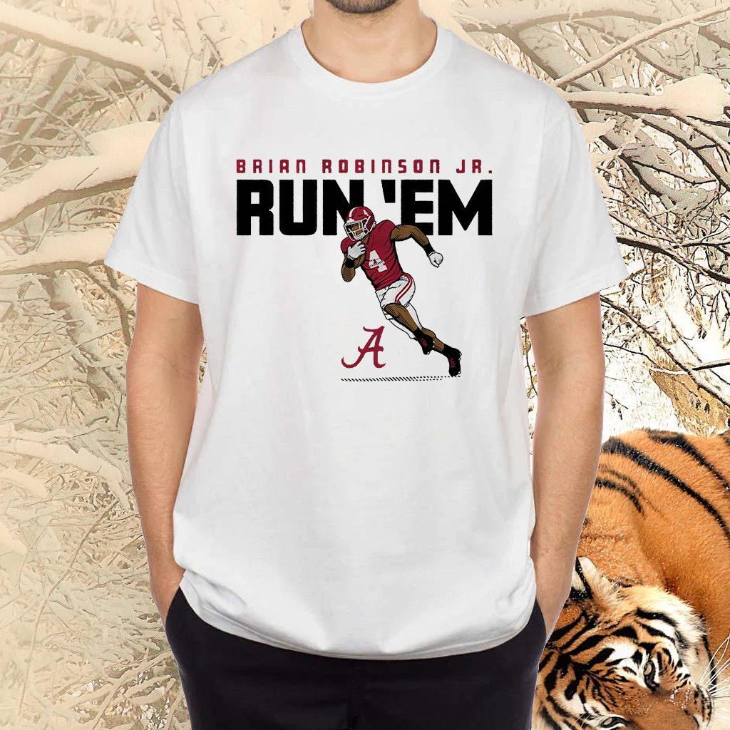 alabama brian robinson jr run em shirts